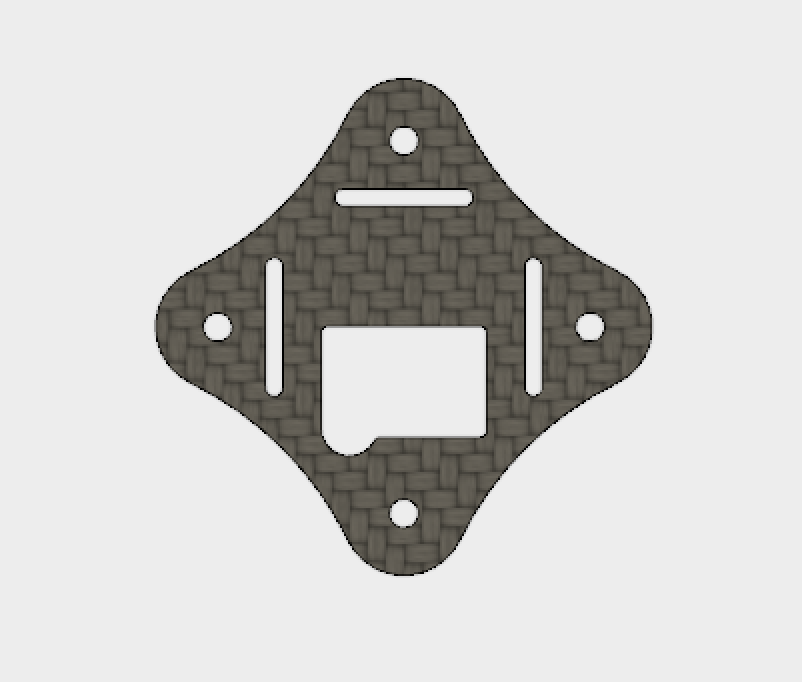 Owl - Extension plate with cutout for VTX