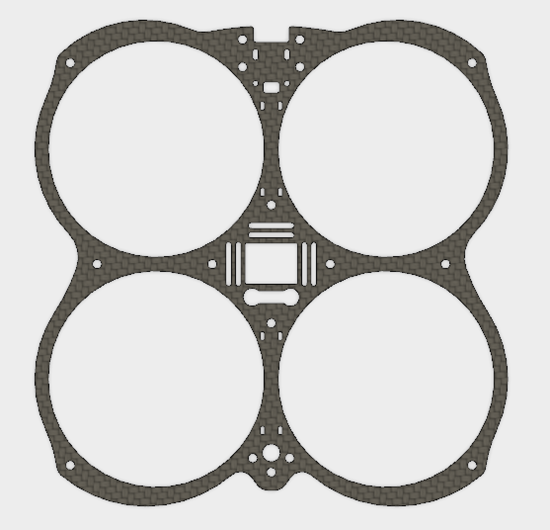 Owl - Secondary Plate without Motor mounts