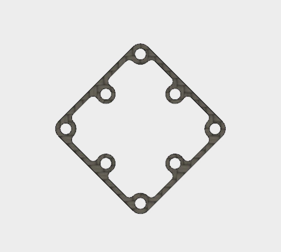 PIKO BLX 45 degrees Carbon Fiber Mount Adapter for Standard FC Mount