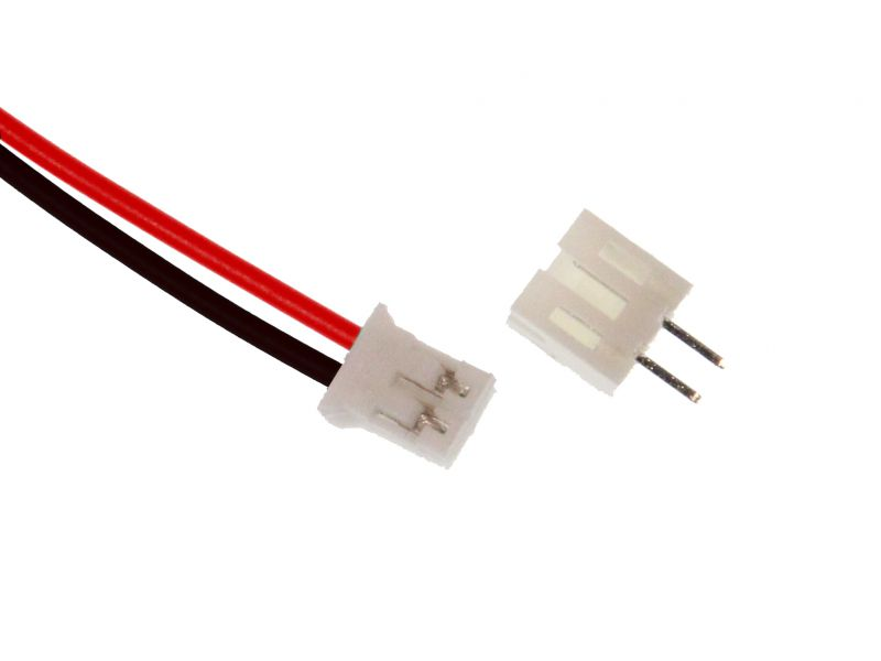 JST 2.0 2-pin connector plug with wire