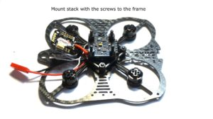 frame with motors and fc installed