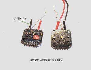 top esc with first set of wires