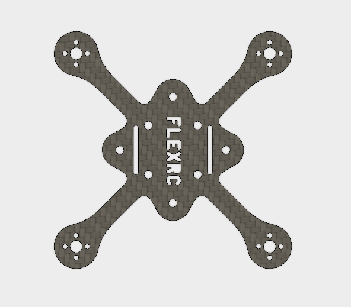 Main X Plate with Motor mounts for 2.5