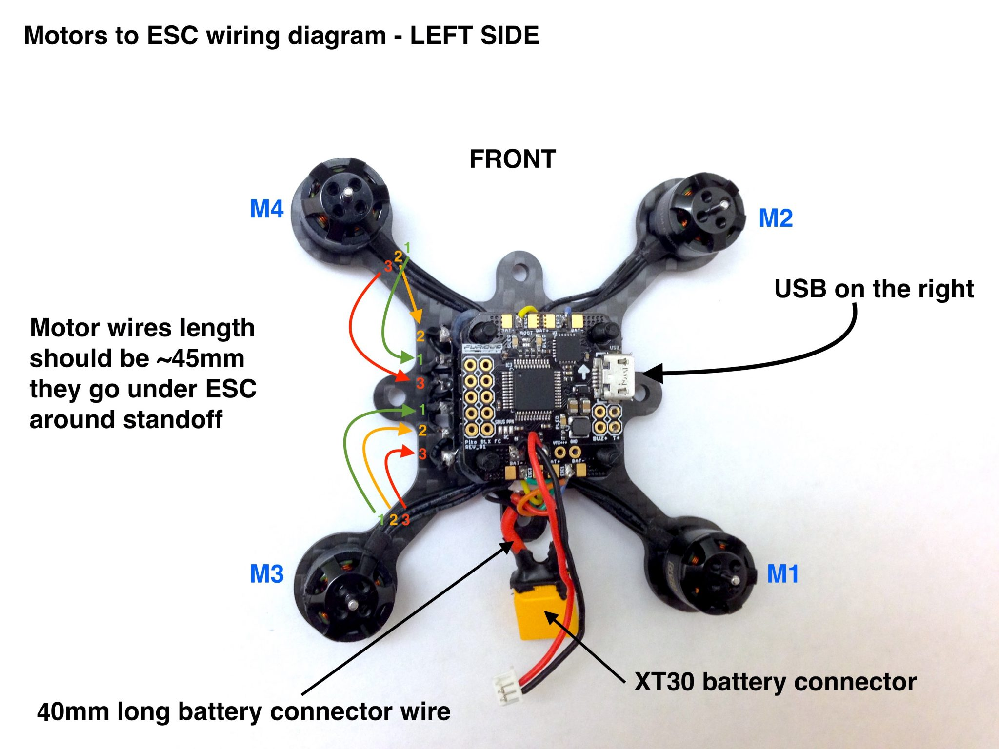 Drone esc wiring diagram images