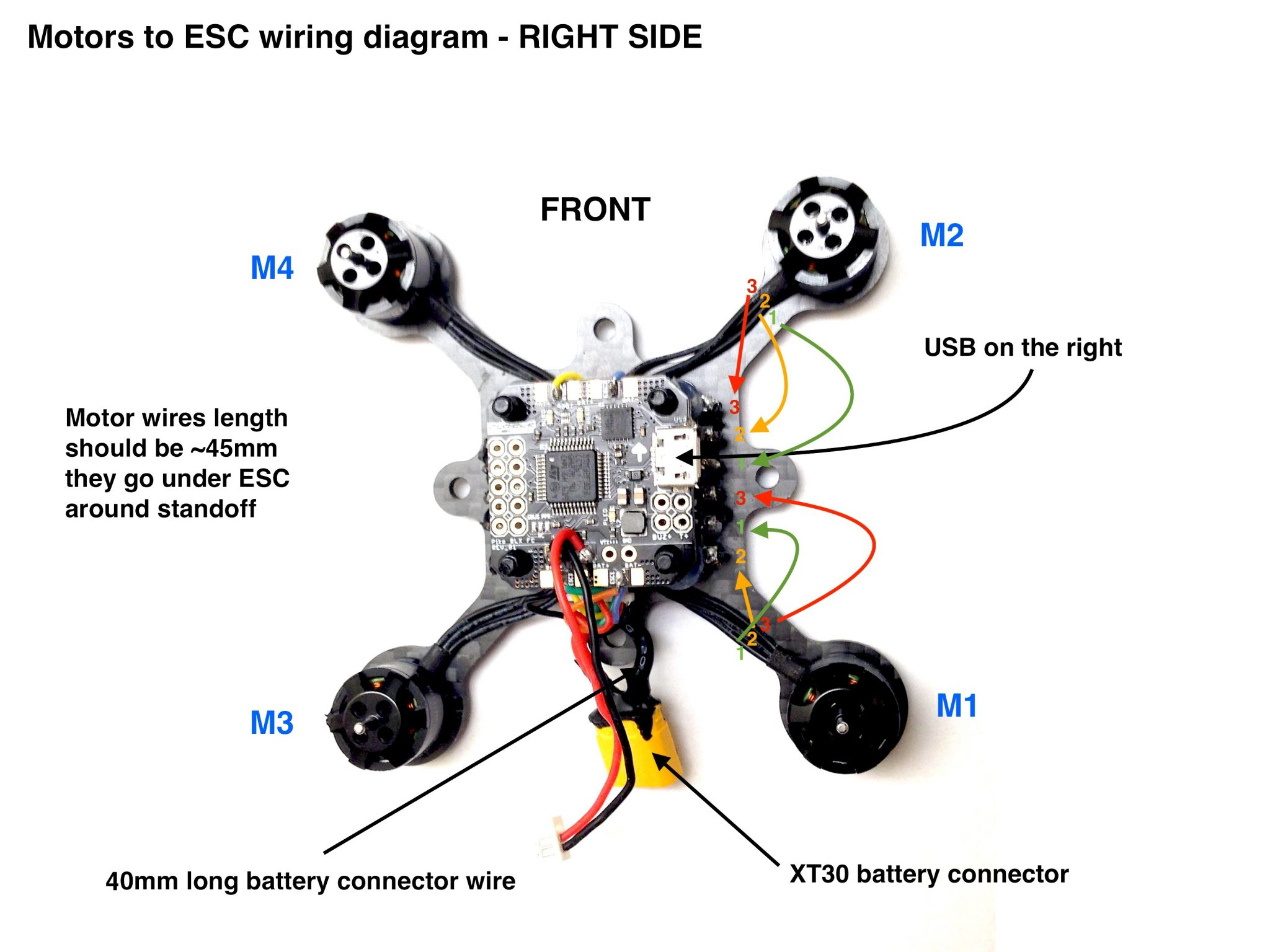 FlexRC Pico Core motors wiring diagram – Flex RC