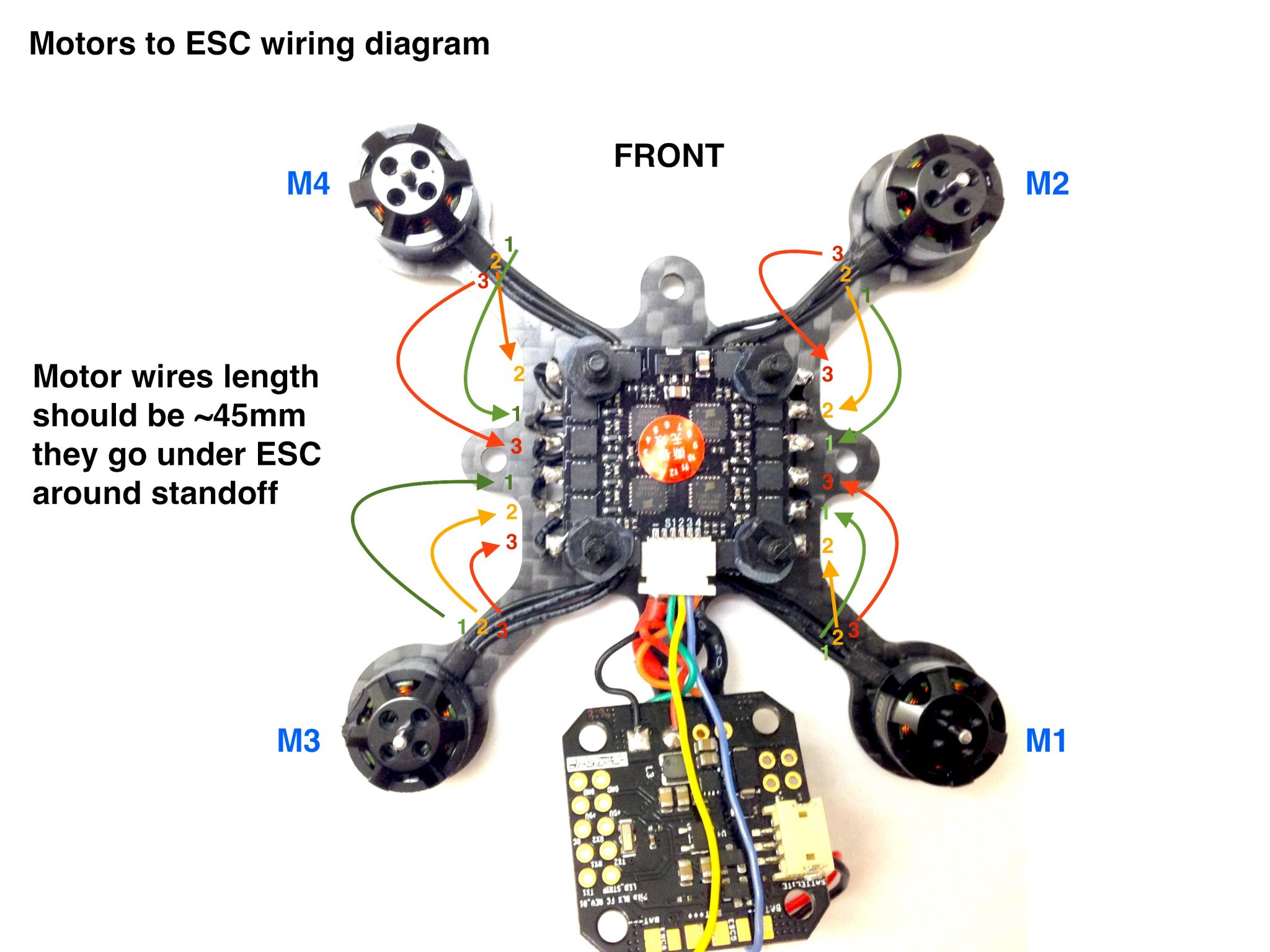 FlexRC Pico Core motors wiring diagram - Flex RC