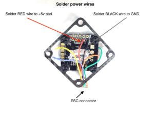 How to assemble FlexRC Mini Core - Solder power wires