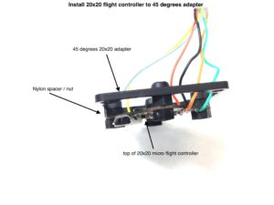 How to assemble FlexRC Mini Core - install flight controller to carbon fiber adapter