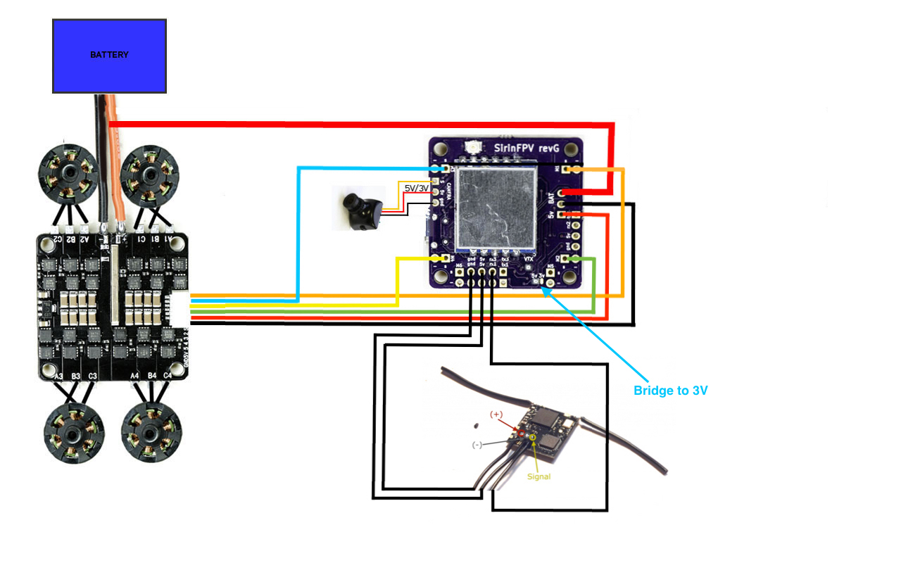 Flexrc Core With Sirinfpv V2 Wiring Diagram  U2013 Flex Rc