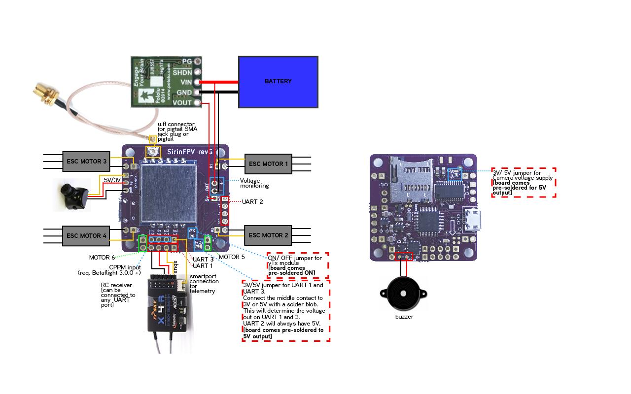Flexrc Core With Sirinfpv V2 Wiring Diagram Flex Rc Pre Pololu