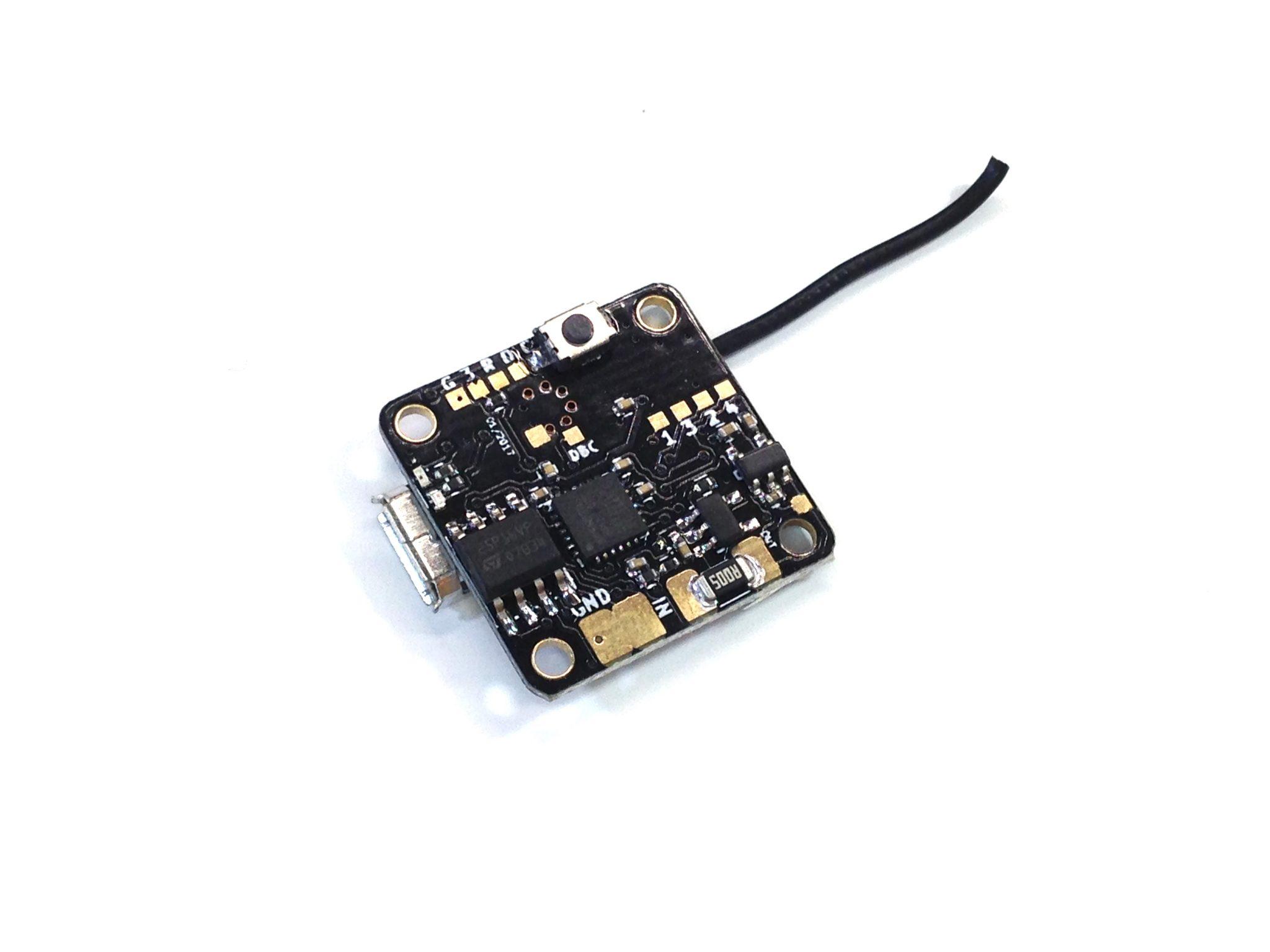 TinyFish F3 Flight Controller with FrSky receiver - Betaflight - DSHOT - (16x16mm mount)