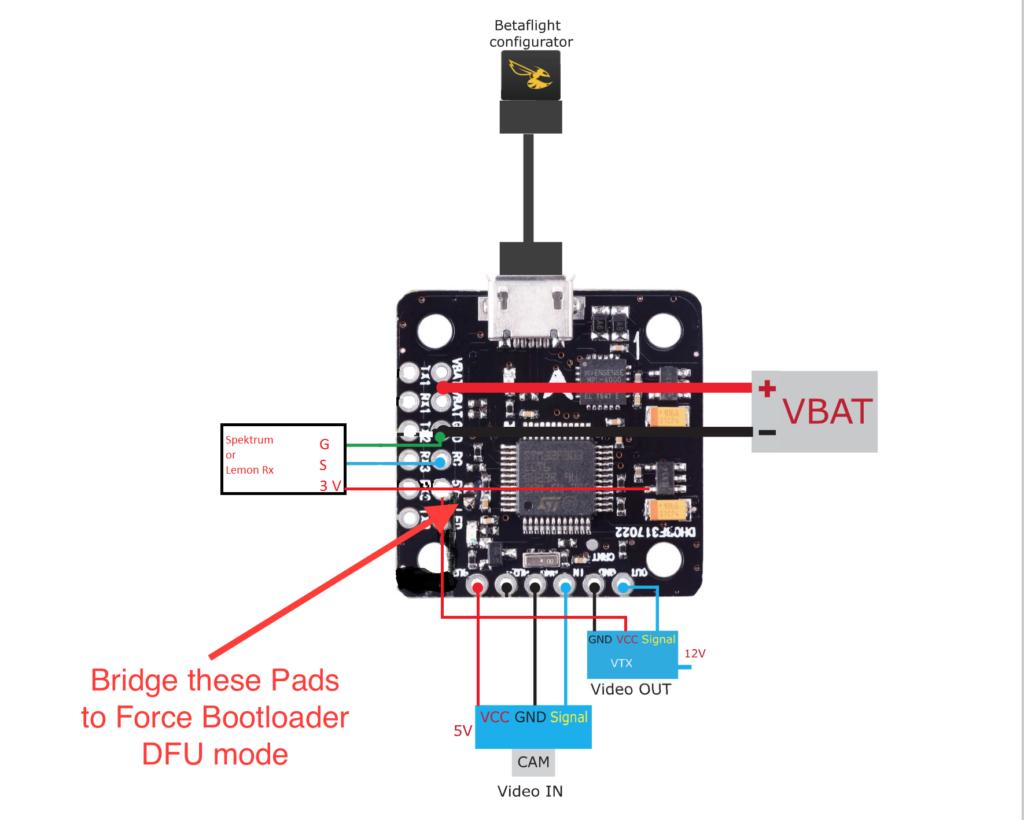 Mini F3 Flight Controller With Osd  U2013 Betaflight  U2013 Dshot