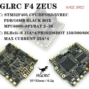 HGLRC F4 Zeus STM32 F405 Flight Controller with OSD and 15A 4 in 1 ESC 3