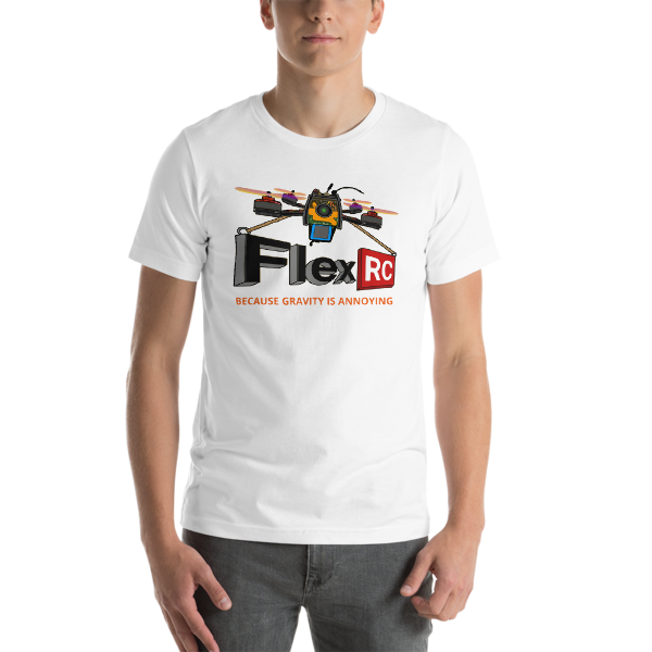 Front Cartoon Ascent Drone with Slogan - Short-Sleeve Unisex T-Shirt