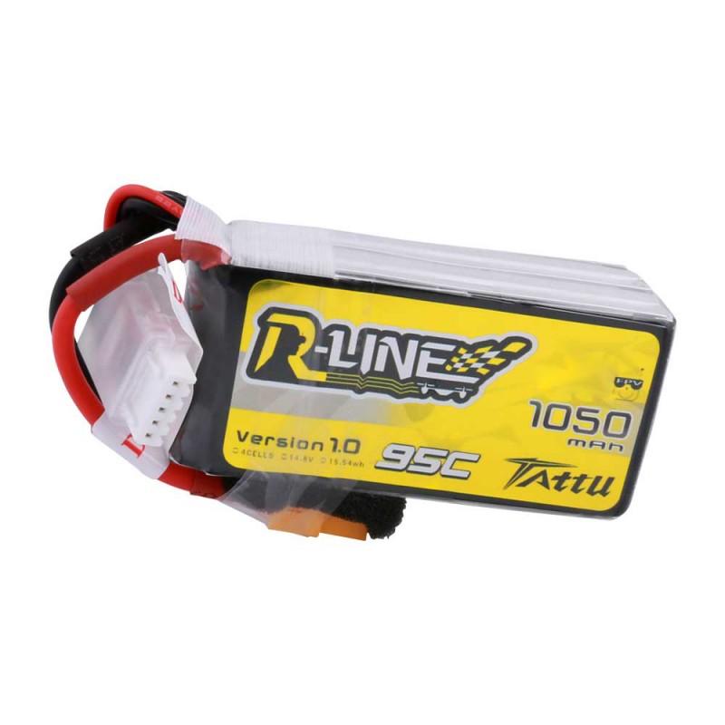 Tattu R-Line 1050mAh 95C 4S1P Lipo Battery Pack with XT60 Plug