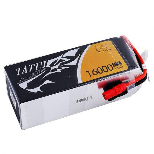 Tattu 16000mAh 6S1P 15C Lipo Battery Pack with AS150 +XT150 Plug