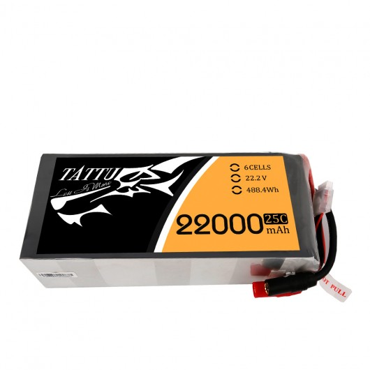Tattu 22000mAh 6S1P 25C Lipo Battery Pack with AS150+AS150 Plug