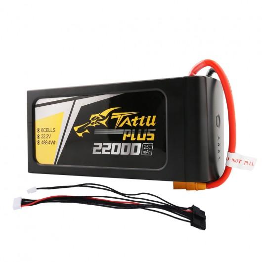 Tattu Plus 22000mAh 22.2V 25C 6S1P Lipo Smart Battery Pack with XT90 Plug (New Version)