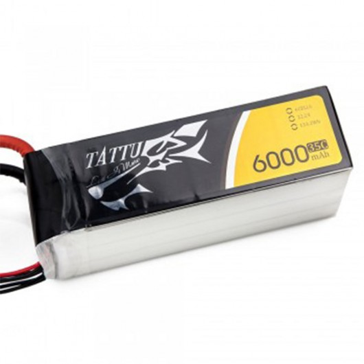 Tattu 35C 22.2V 6S 6000mah Lipo Battery Pack with XT60 Plug