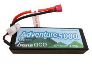 Gens ace Adventure 2S1P 7.4V 5000mAh 100C HardCase Lipo