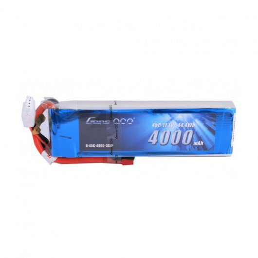 Gens ace 4000mAh 11.1V 45C 3S1P Lipo Battery Pack with Deans Plug