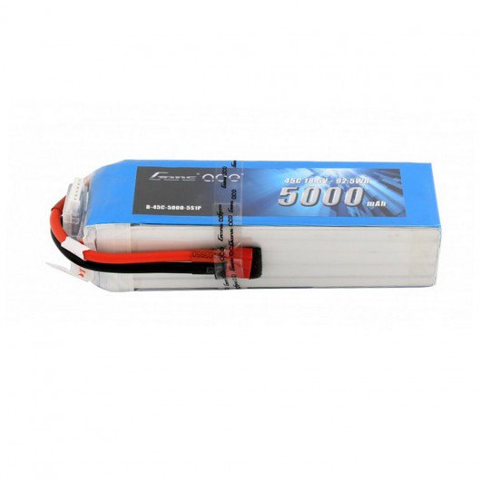 Gens ace 18.5V 45C 5S 5000mAh Lipo Battery Pack with Deans Plug