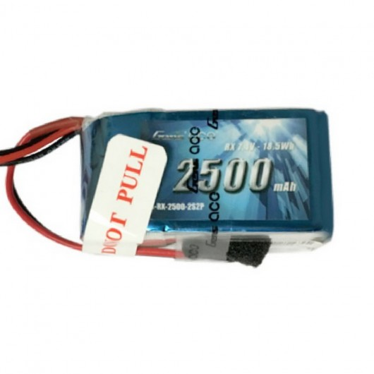 Gens Ace 2500mAh 7.4V Hump RX 2S2P Lipo Battery Pack with JR-3P Plug