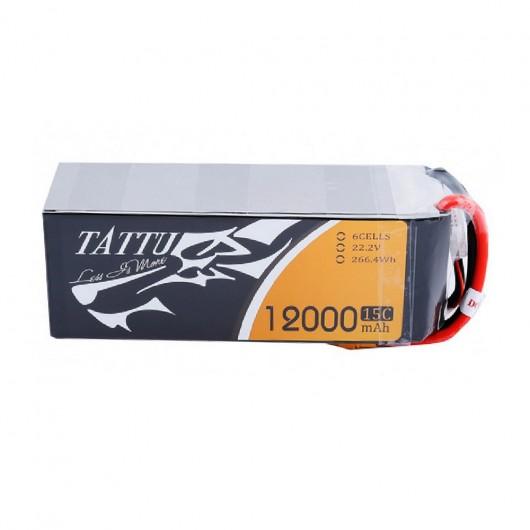 Tattu 15C 6S 12000mAh Lipo Battery Pack with XT90 Plug