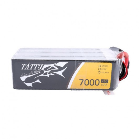 Tattu 25C 22.2V 6S 7000mAh Lipo Battery Pack with XT60 Plug