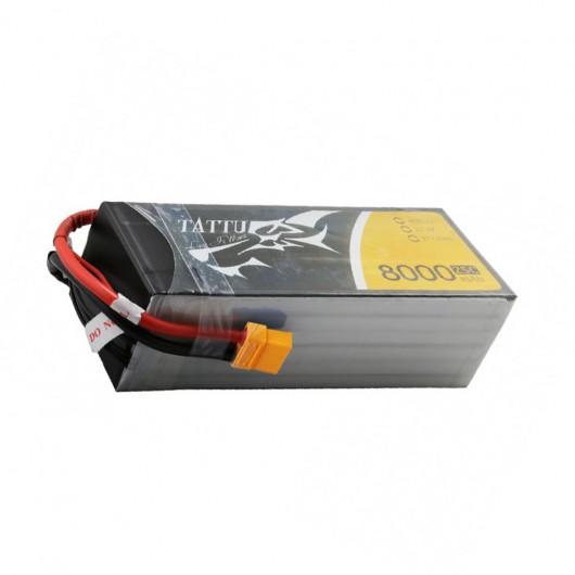 Tattu 22.2V 25C 6S 8000mAh Lipo Battery Pack with XT60 Plug