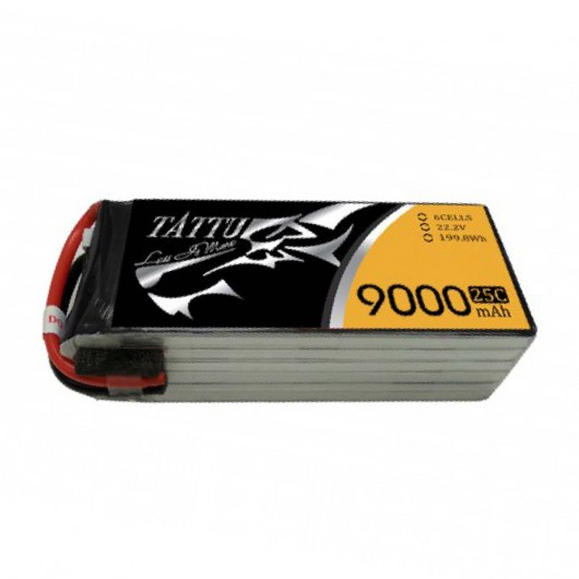 Tattu 9000mAh 22.2V 6S1P 25C Lipo Battery Pack with NA Plug