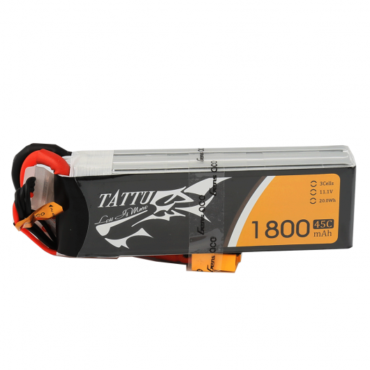 Tattu 1800mAh 45C 3S1P Lipo Battery Pack with XT60 Plug