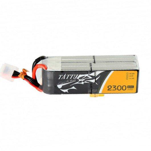 Tattu 2300mAh 45C 4S1P Lipo Battery Pack with XT60 Plug