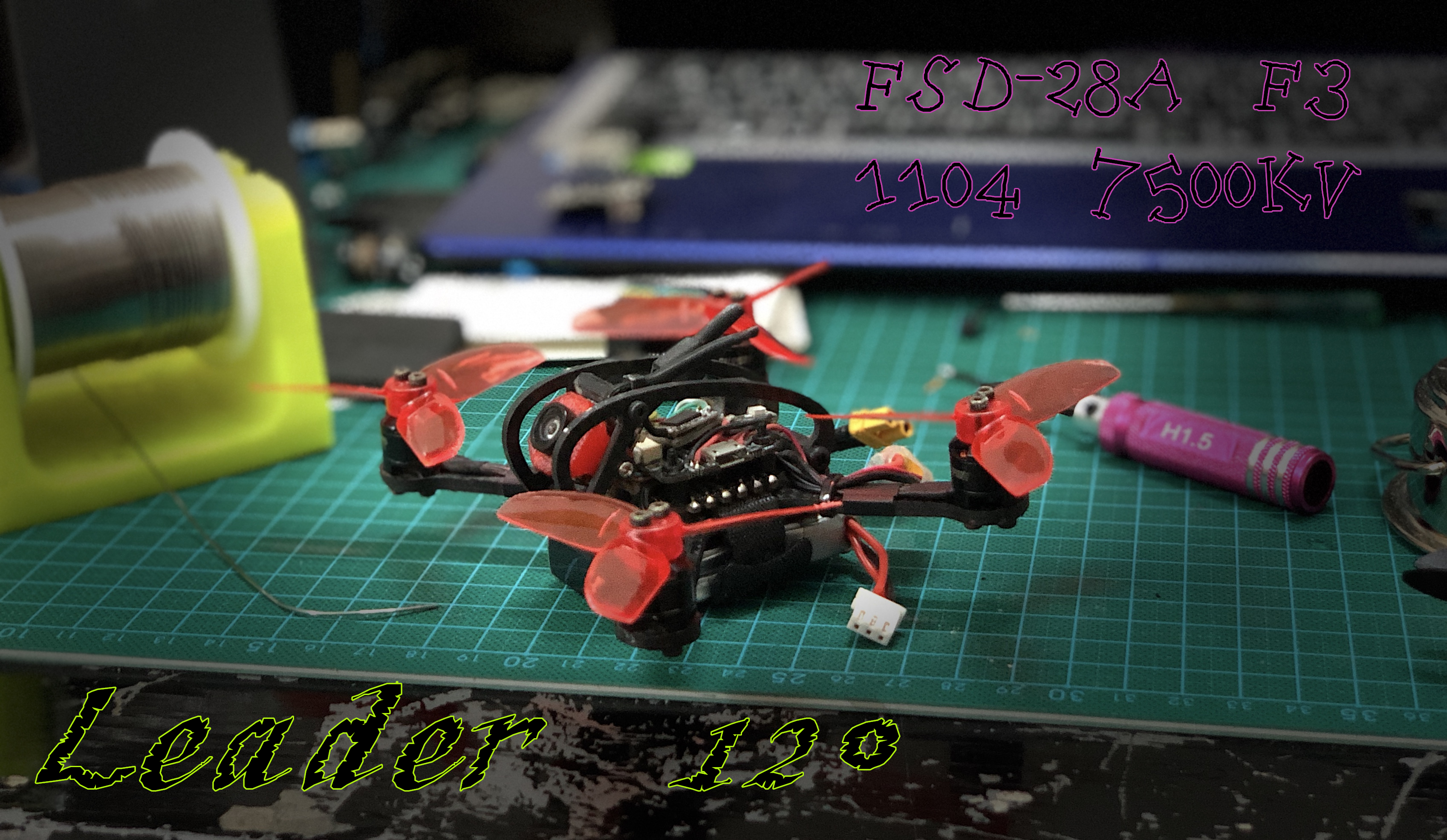 FSD Leader-120 FPV Racing Drone 1106 28A 2s 550mah 80C