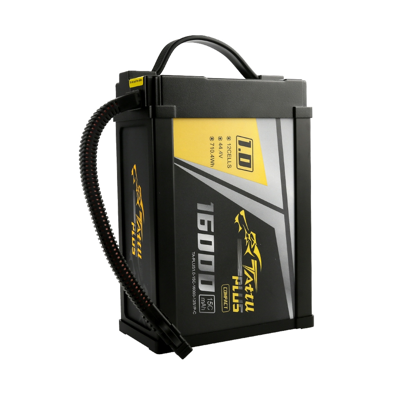 Tattu Plus 1.0 Compact Version 16000mAh 44.4V 15C 12S1P Lipo Smart Battery Pack with XT90-S Plug
