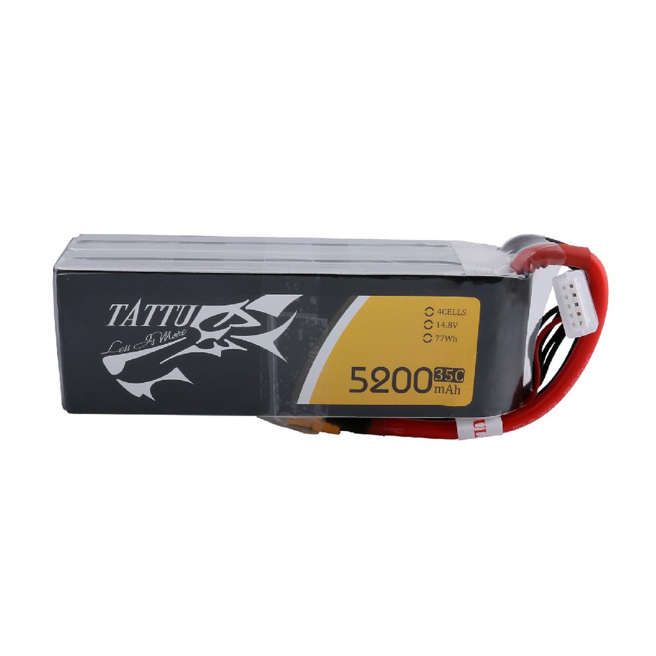 Tattu 5200mAh 14.8V 35C 4S1P Lipo Battery Pack with XT60 Plug