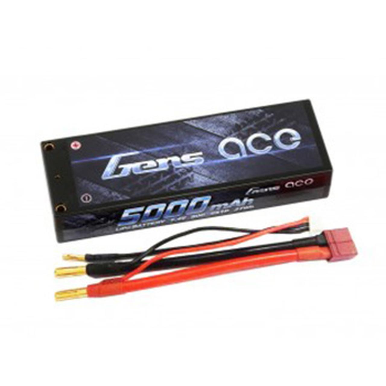 Gens ace 5000mAh 7.4V 50C 2S1P HardCase Lipo Battery Pack 10#