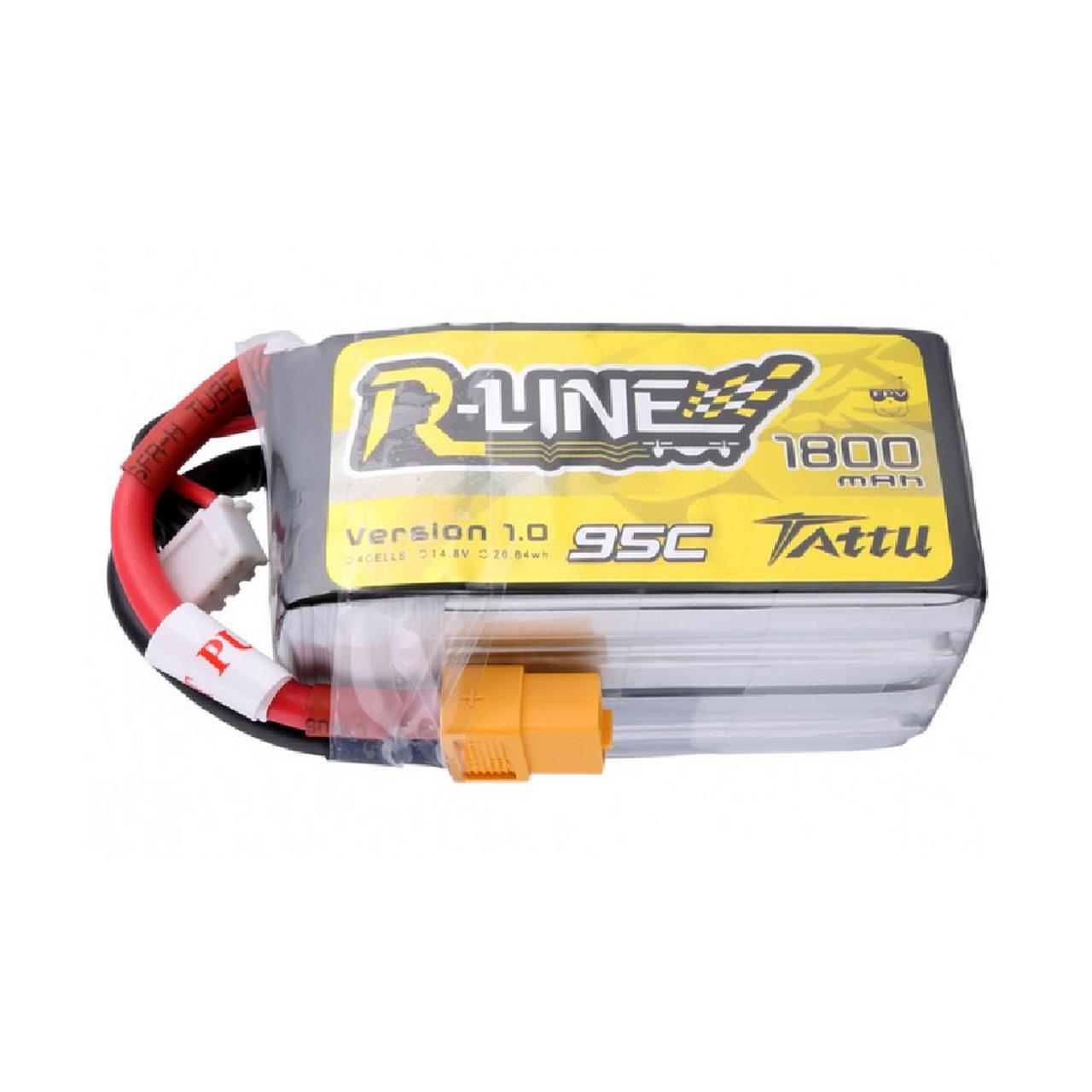 Tattu R-Line 1800mah 4S 95C FPV Lipo Battery with XT60 Plug