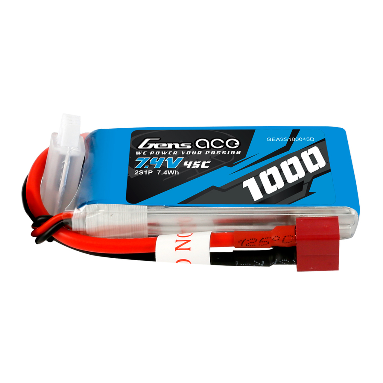 Gens ace  2S 1000mAh 45C Lipo Battery Pack with Deans plug
